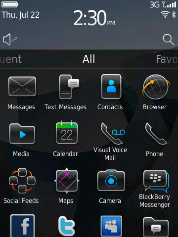 foto/gambar: Blackberry os 6