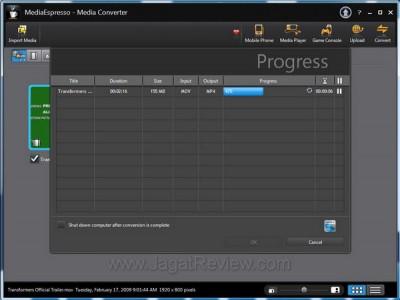 Logo Intel Muncul Saat MediaEspresso Menggunakan Feature Intel Quick Sync
