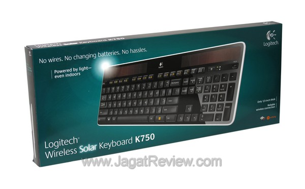 f9b9b8e0fba Wireless Solar Keyboard K750. Kotak kemasan Logitech Wireless Solar Keyboard  ...