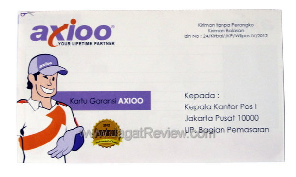 Axioo PicoPad 7 - Kartu Garansi