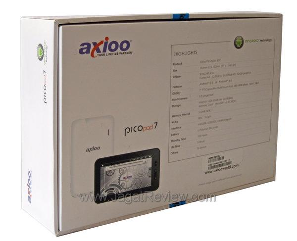 Axioo PicoPad 7 - Kemasan Belakang