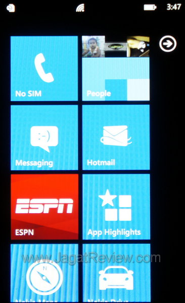 Nokia Lumia 710 - Start Menu