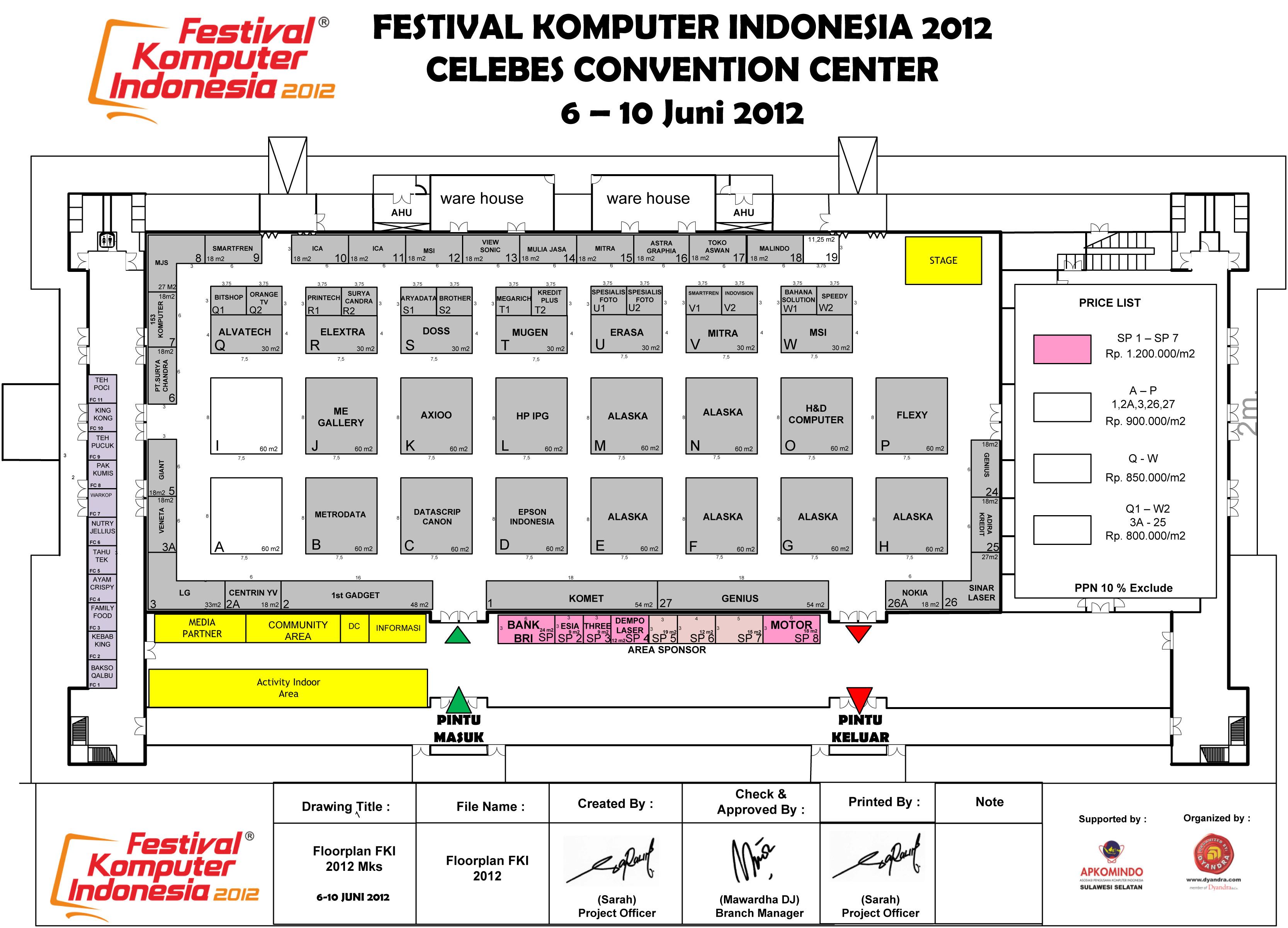 Floorplan Festival Komputer Indonesia FKI 2012
