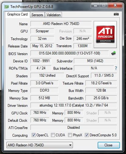 Amd Radeon Hd 7540d Driver Download