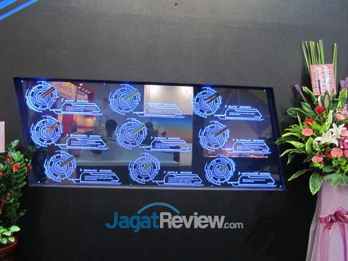 Display keseluruhan kelas-kelas produk memori Avexir