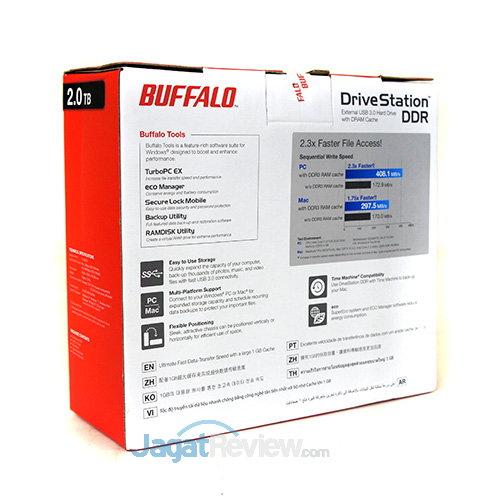 Buffalo Drivestation DDR - Kemasan Belakang