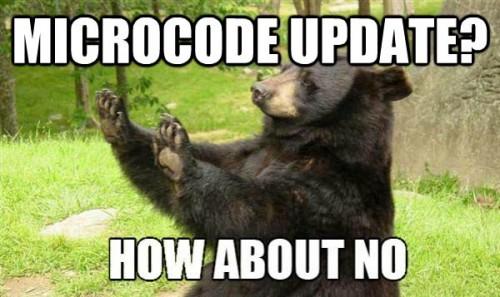 Microcode Update untuk menghilangkan opsi overclocking di chipset Non-Z? Erm...no thanks
