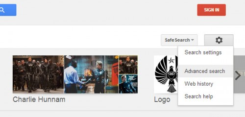 google images - advanced search