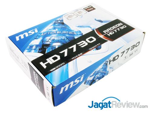 msi hd 7730 front box