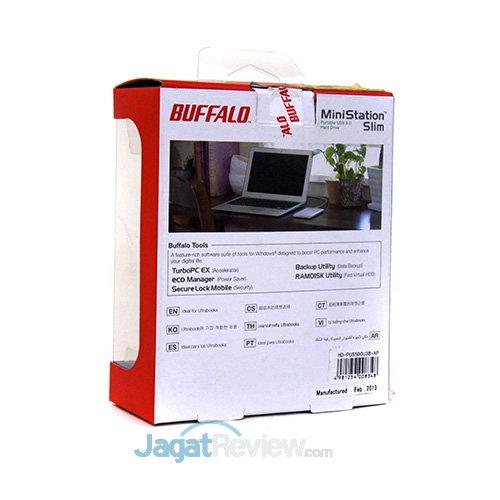Buffalo UltraSlim - Kemasan belakang