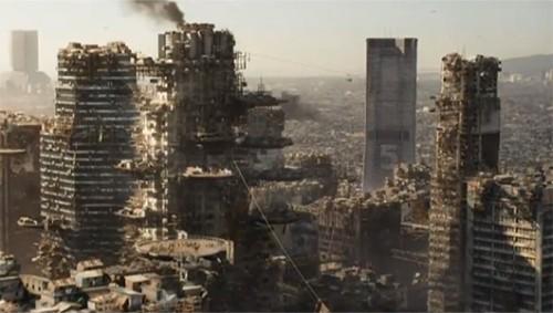 """Bumi yang telah tercemar polusi dan menjadi """"tempat tinggal kumuh"""" bagi mereka yang tidak mampu."""