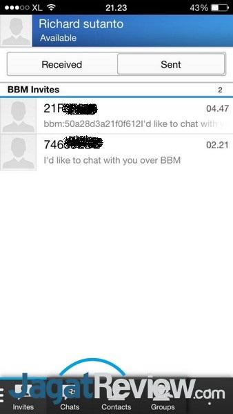 Menambah kontak bisa dilakukan dengan memasukkan PIN dari BBM milik rekan, sama seperti yang biasa dilakukan di perangkat BlackBerry biasa.