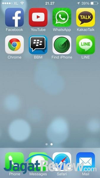 Icon BBM diantara icon-icon aplikasi di iOS