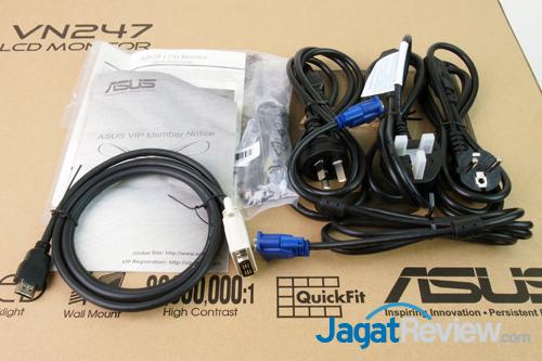 asus vn247h sales package