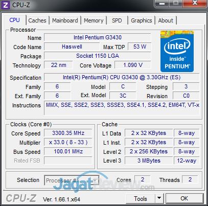 intel pentium g haswell cpuz g3430