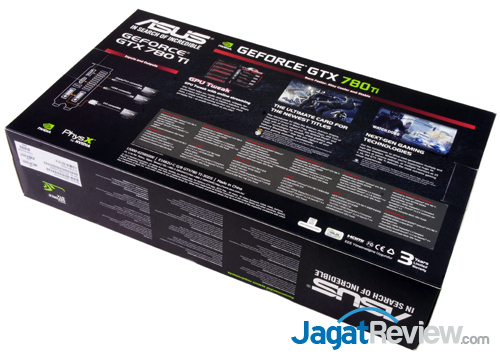 asus nvidia geforce gtx 780 ti back box