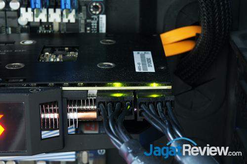 asus rog mars 760 power connectors led green