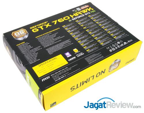 msi gtx 760 hawk back box