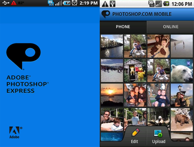 Update photoshop express di Android KitKat