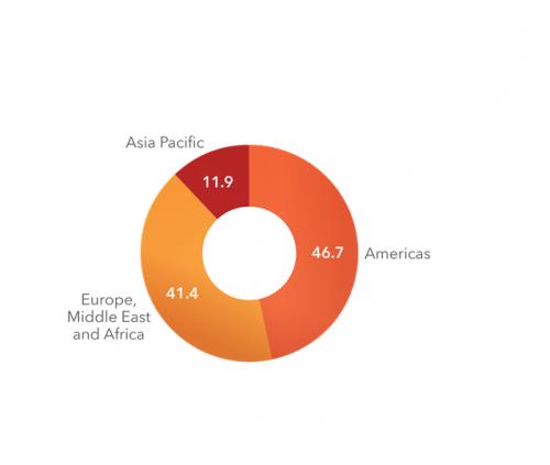 SAS_Revenue Percentage_by Region_2013