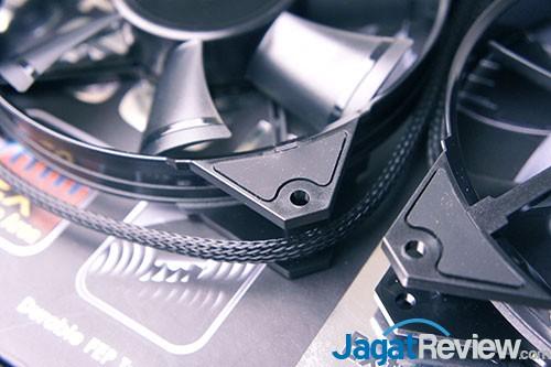 JetFlo ini diberikan karet pada dekat bagian baut untuk meredam getaran, sehingga tidak menimbulkan banyak suara