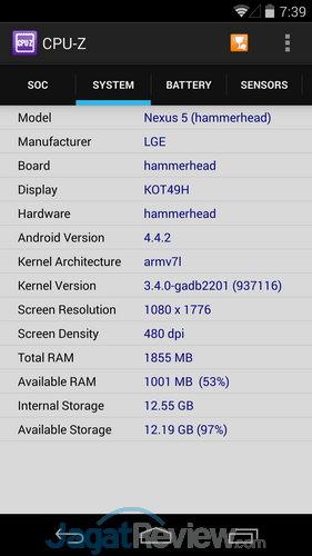 CPU Z Nexus 5 (1)