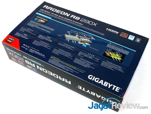 gigabyte r9 290x winforce 3x oc back box