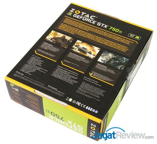 zotac gtx 750 ti oc rear box