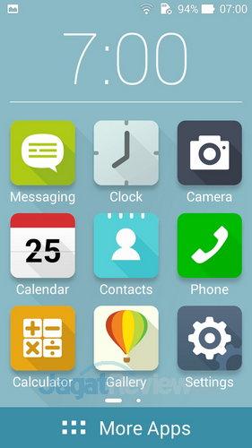 ASUS ZenFone 6 - Easy Mode Homescreen
