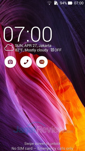ASUS ZenFone 6 - Lock Screen