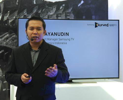 Ubay Bayanudin, Senior Product Manager Samsung TV of Samsung Electronics Indonesia
