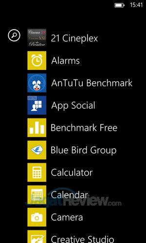Nokia Lumia 1020 - Menu Screen