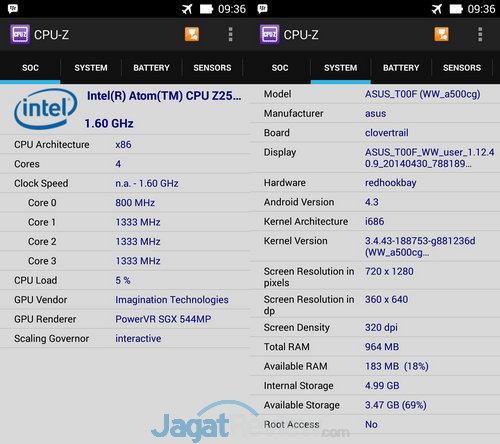 CPU Z ZenFone 5