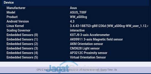 SS ZenFone 5 sensor