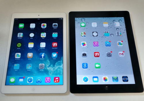 Kiri: iPad Air, Kanan: iPad 4