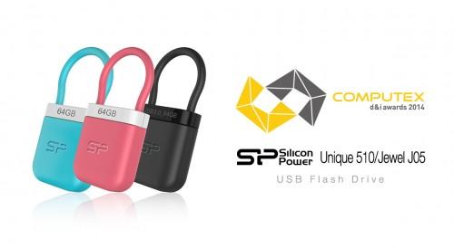 SPPR_COMPUTEX d&i awards 2014_Jewel J05 & Unique 510 USB Flash Drive