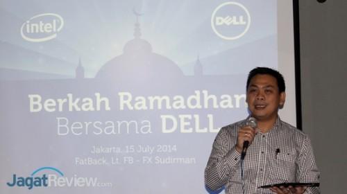 Primawan Badri, Country Manager & Director - Consumer dari Dell Indonesia, memberikan sambutan pembuka acara.