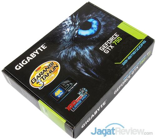gigabyte gtx 750 2gb oc front box