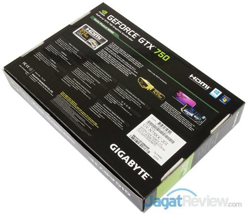 gigabyte gtx 750 2gb oc rear box