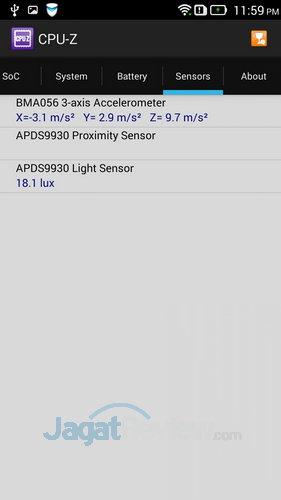 Lenovo S850 - Sensor