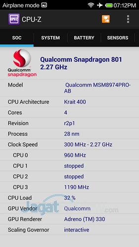 Xiaomi Mi3 - CPU