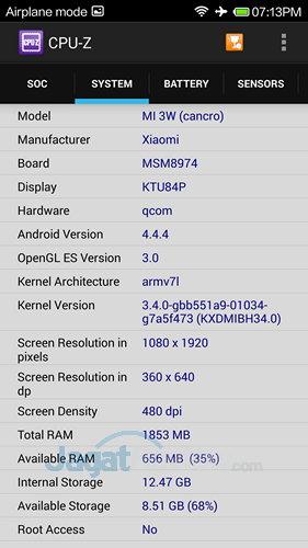 Xiaomi Mi3 - SoC