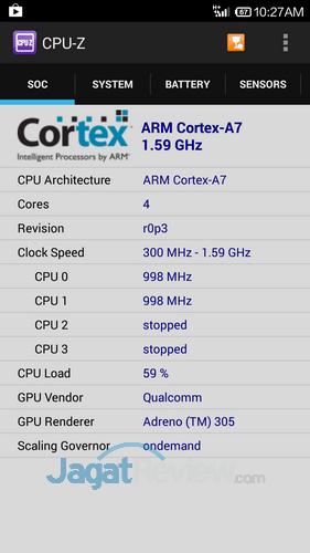 Xiaomi Redmi 1S - CPU-Z CPU