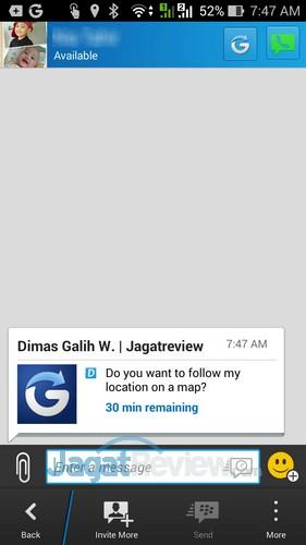 Tips BBM Glympse - Sending