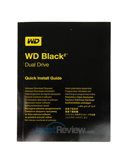 WD Black Dual - Buku Manual