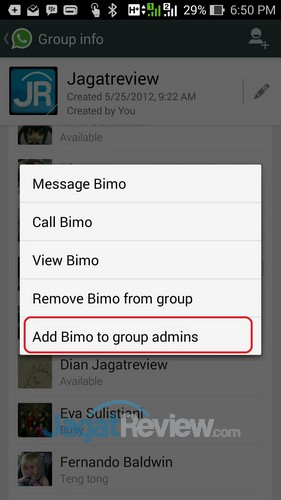 Whatsapp - Add to Admin Group
