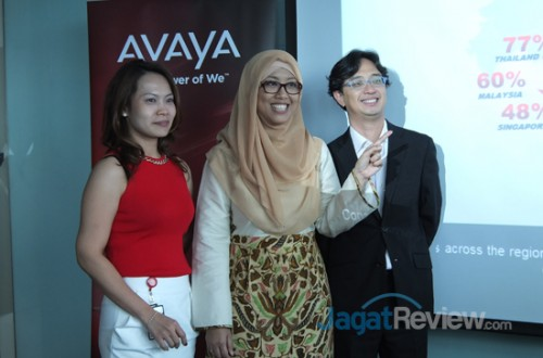 Kiri-Kanan: Herlinda Xu, ASEAN Marketing Director of AVAYA; Endang Rachmawati, Country Director, AVAYA Indonesia; Felix Leong, Regional Manager Contact Center Solutions of AVAYA