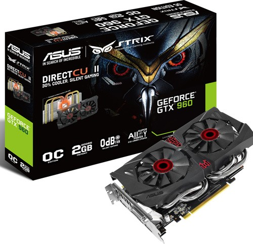 ASUS STRIX GTX 960 DIRECT CU II OC - GAMING 1228 1291 - OC 1253 1317 - 7200