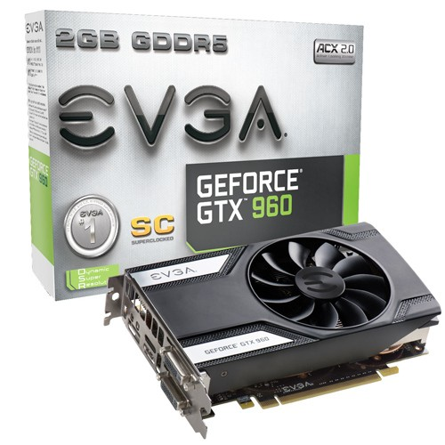 EVGA GeForce GTX 960 Superclocked - 1216 1279 - 7010