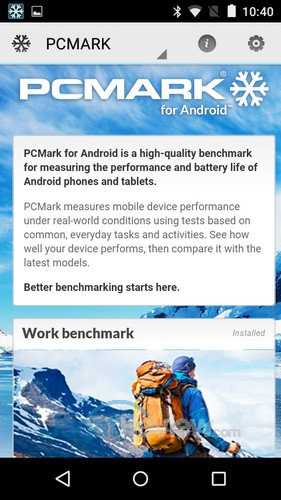 Benchmark PCMark for Android
